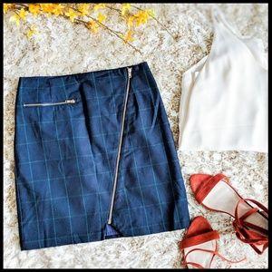 Romeo + Juliet Asymmetrical Plaid Skirt